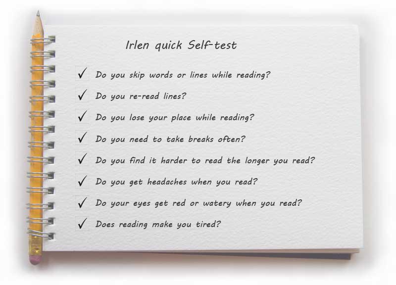 Irlen checklist